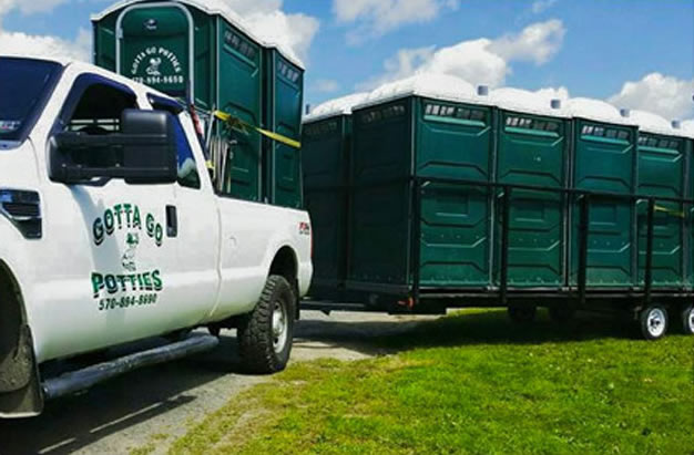 portable potties solution for construction sites in The Poconos