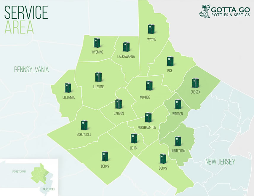 gotta go potties service map